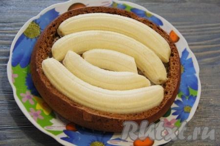 Торт с бананами и творогом