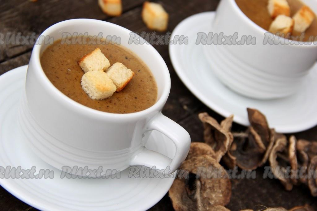 рецепт супа пюре из грибов как в икеа