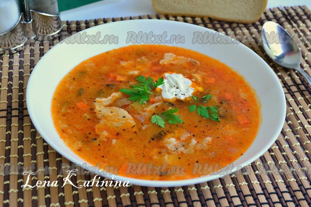 суп рассольник с рисом рецепт с фото