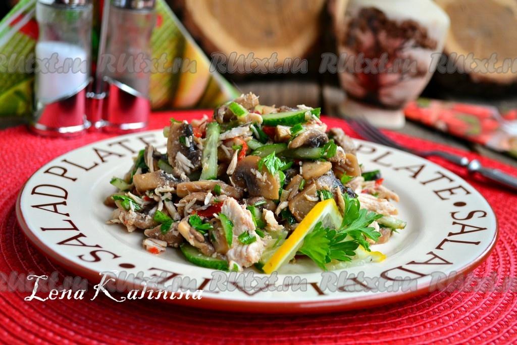 салаты рецепты с фото с курицей и огурцами