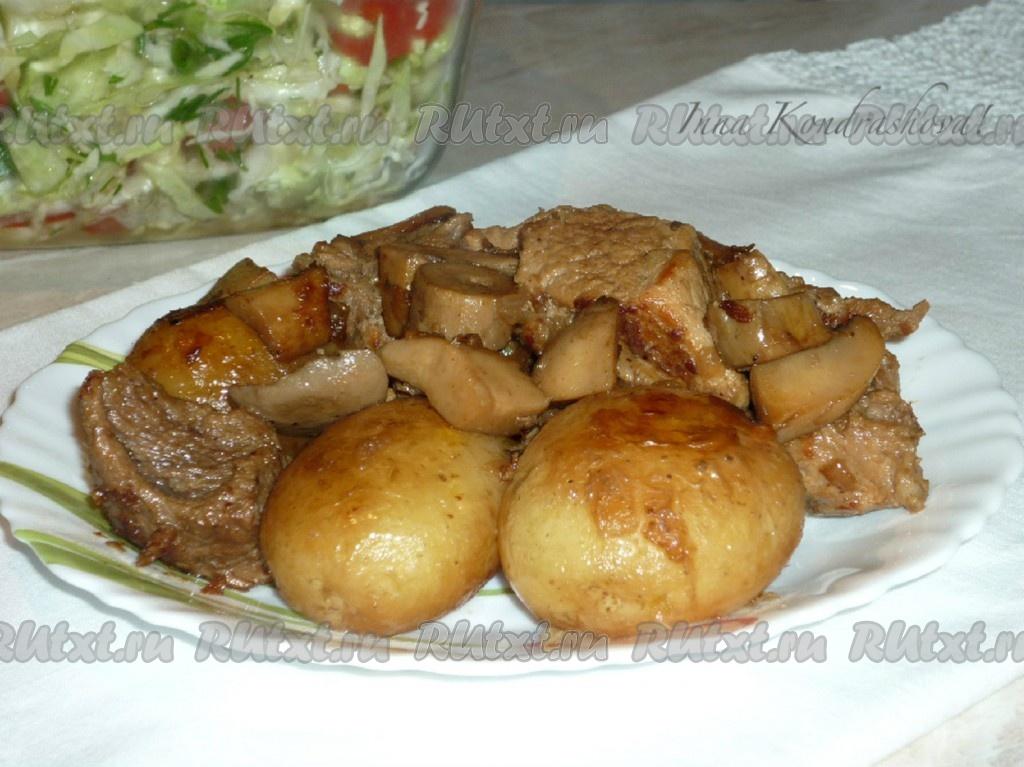 рецепты для мультиварки свинина с жареным картофелем