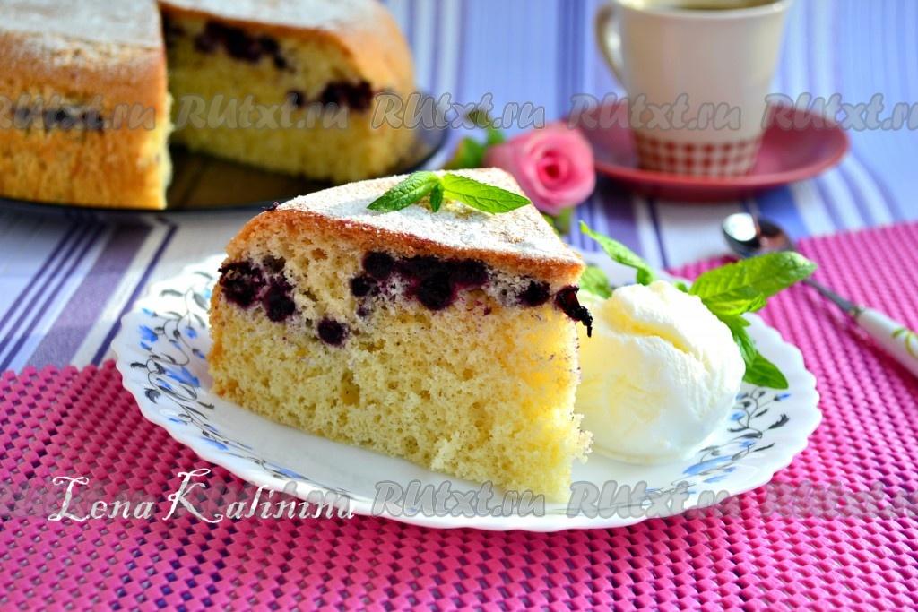 Пирог с черникой в мультиварке рецепты