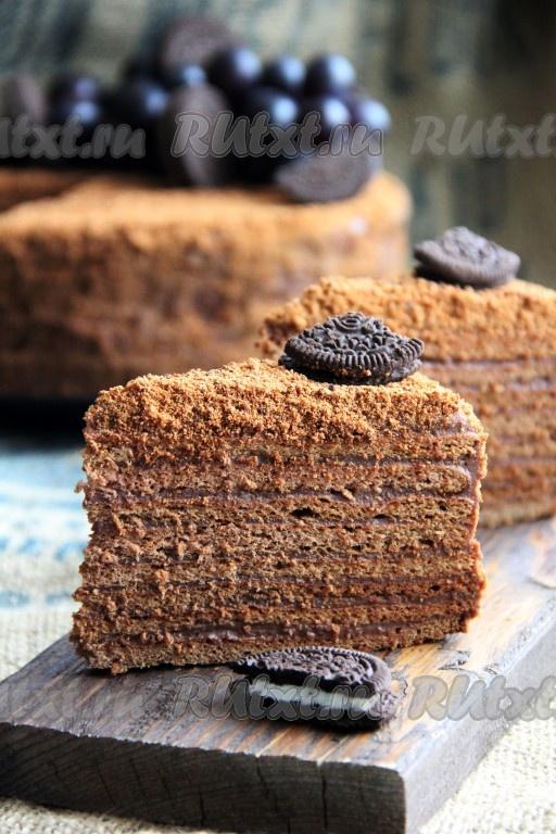 рецепт медовик крем шоколадный