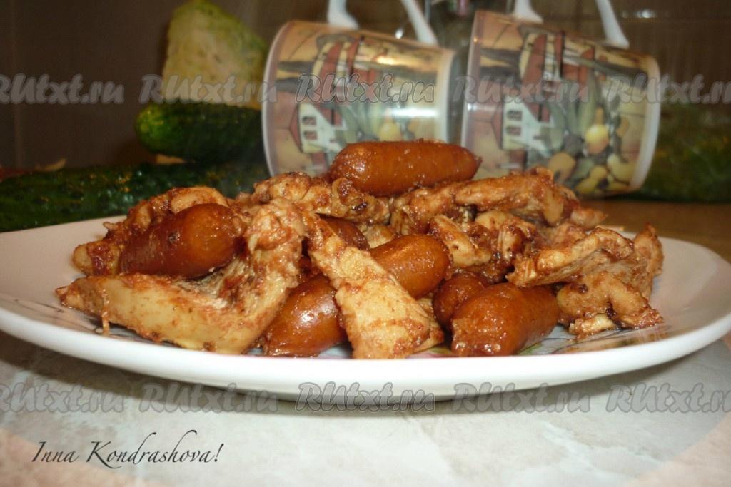 филе курицы в соевом соусе на сковороде