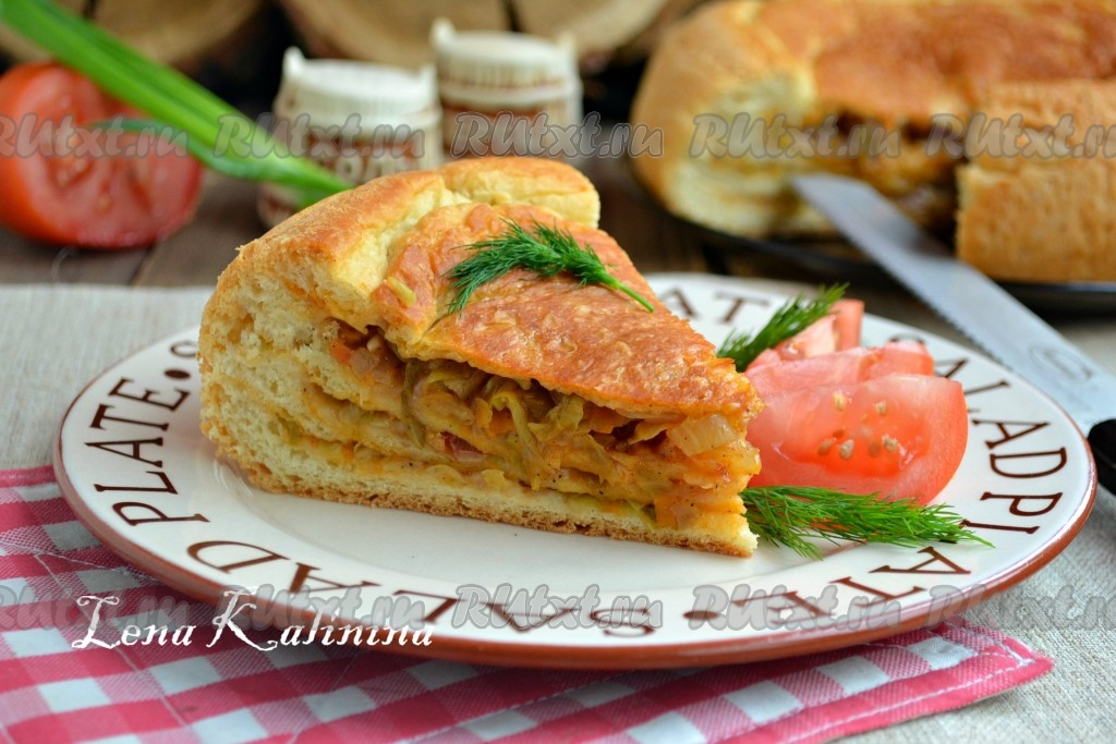 пирог с капустой с в мультиварке рецепты с фото