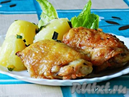 Кусочки курицы, приготовленные в аэрогриле, получаются хрустящими, ароматными и очень вкусными.