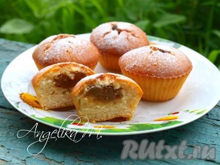Кексы с начинкой рецепты с фото
