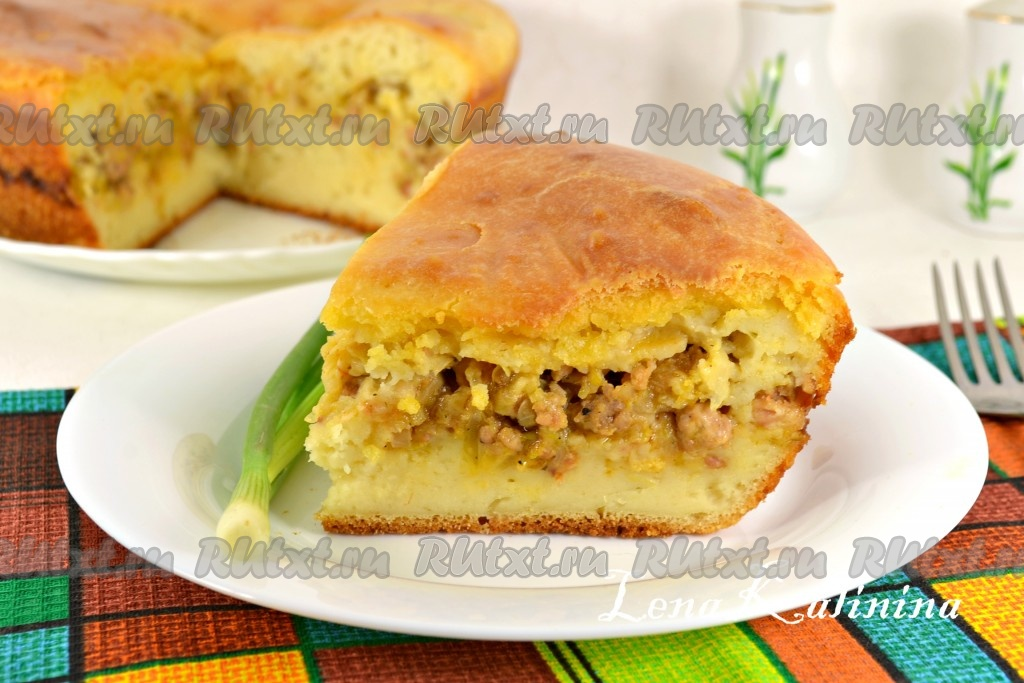 заливной пирог с капустой ифаршем рецепт с фото