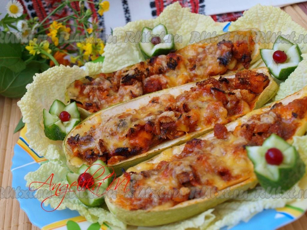 кабачки с курицей салат рецепт