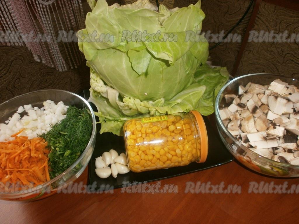 Приготовления голубцов с мясом и рисом