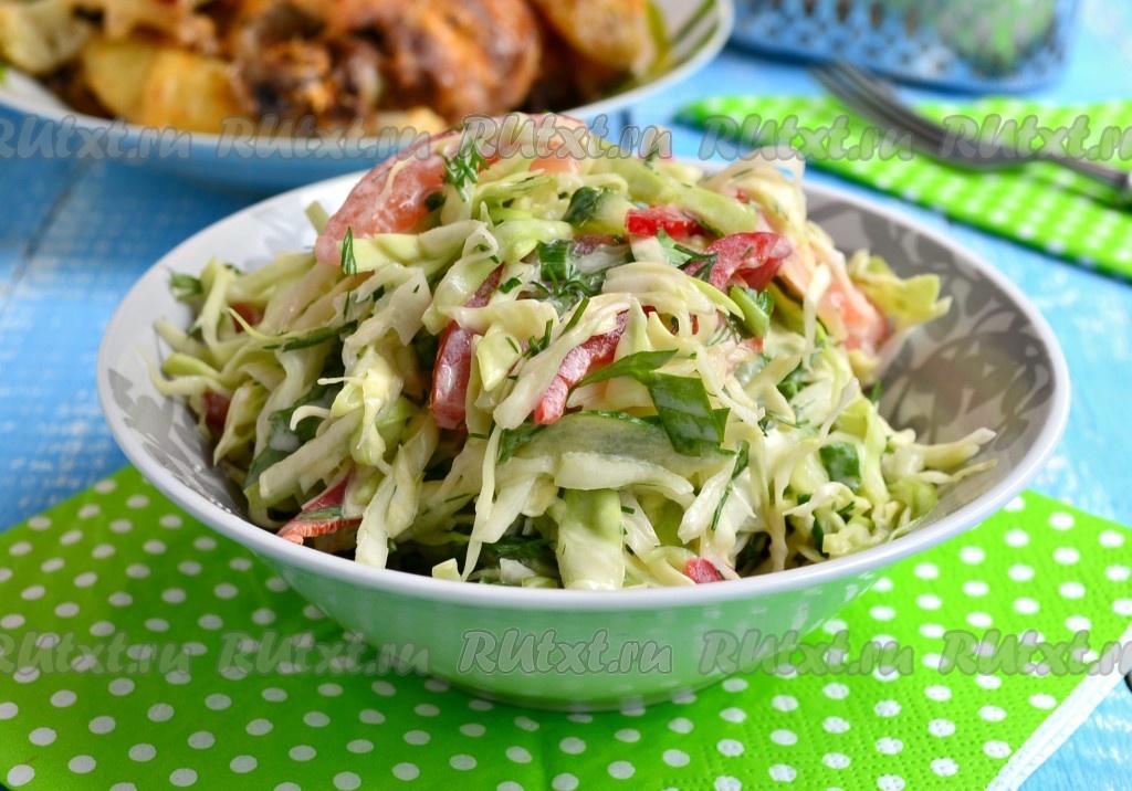 рецепт салата из перца болгарского и капусты