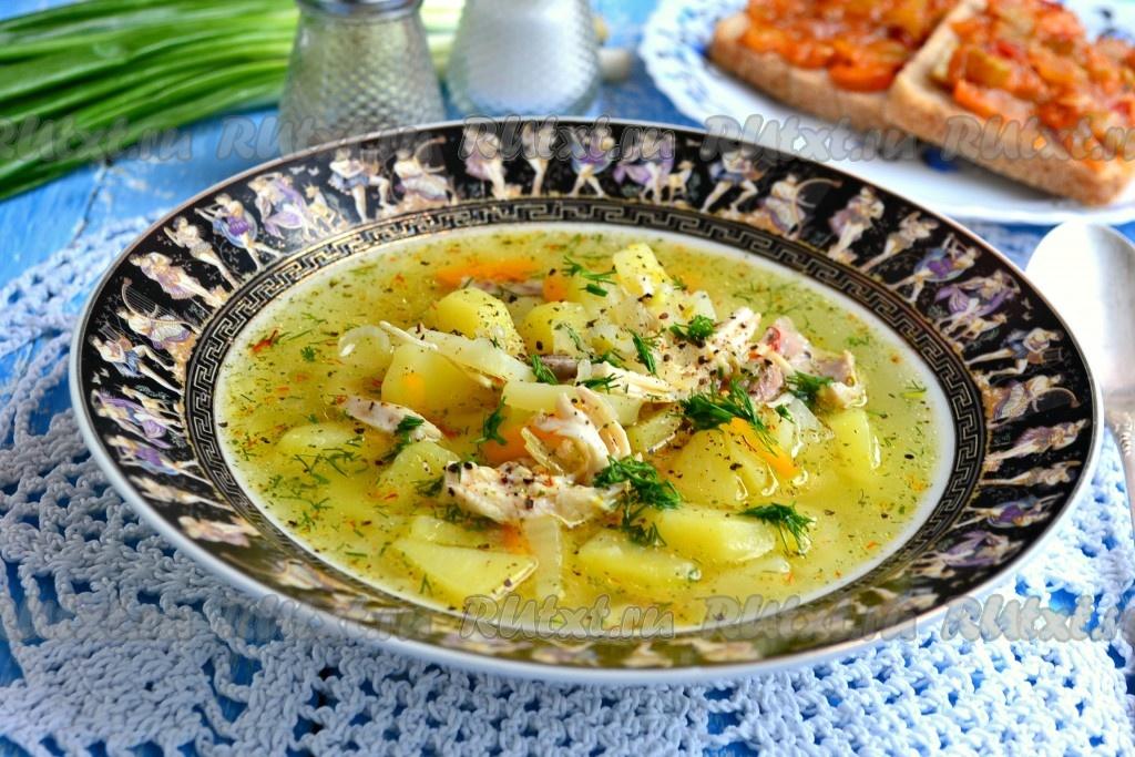 картофельный суп рецепт с фото пошагово с курицей