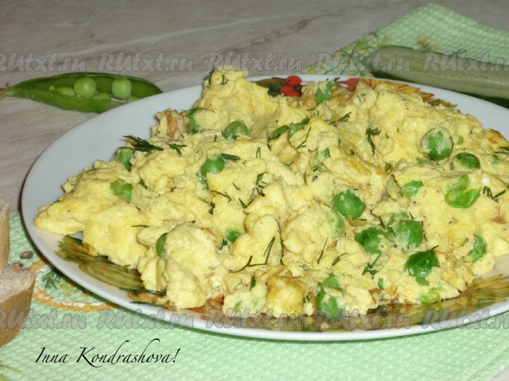 Омлет с зеленым горошком рецепт приготовления макароны гнезда рецепты приготовления на сковороде