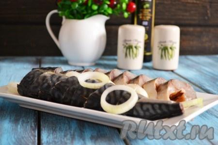 Скумбрия сухого посола получается нежной, вкусной, от нескольких кусочков такой рыбки отказаться практически невозможно.