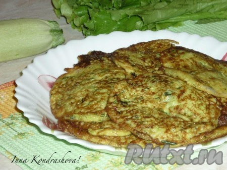 Оладушки из кабачков рецепт с фото