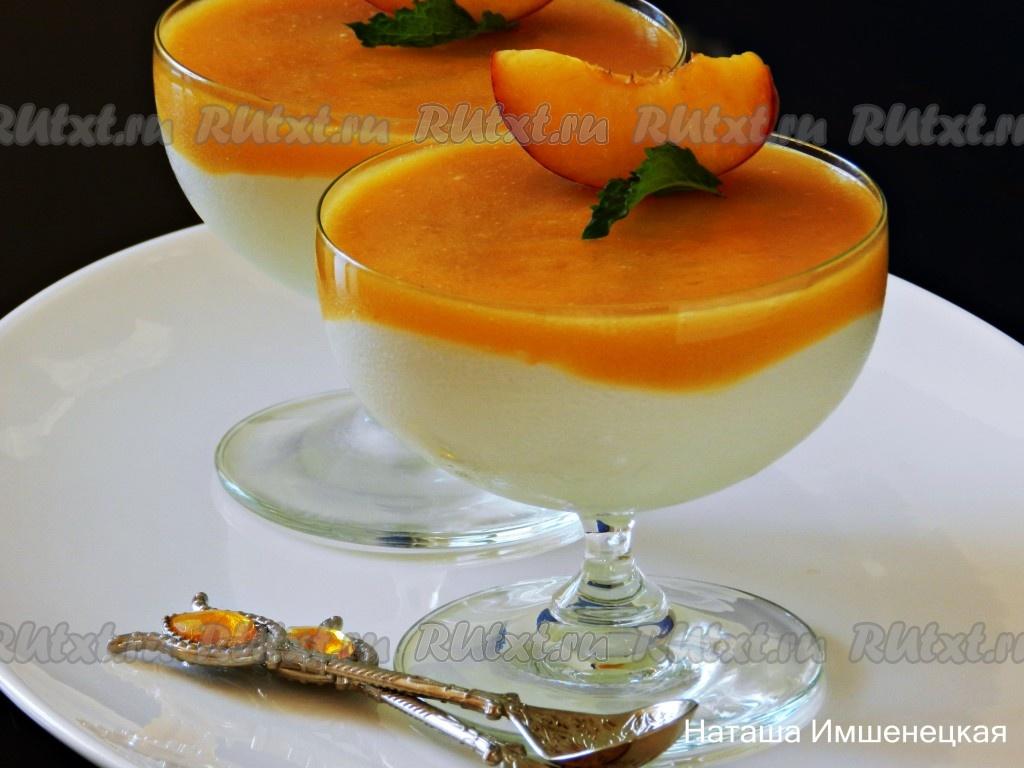 десерт творожный с желатином и фруктами рецепт с фото