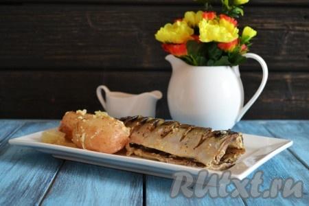 рецепт скумбрии с картофелем запеченной в духовке с