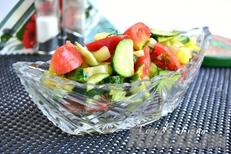 рецепт салата из болгарского перца и баклажанами