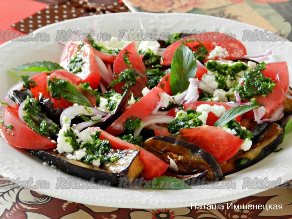 Рецепты салатов с баклажанов и фотографиями