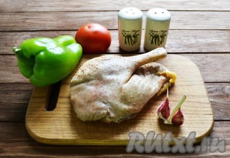 Подготовим необходимые ингредиенты для приготовления гуся в казане.