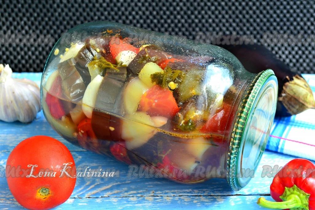 рецепт салата с перцем помидорами и луком на зиму
