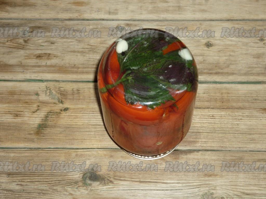 Помидоры с базиликом на зиму - рецепт с фото