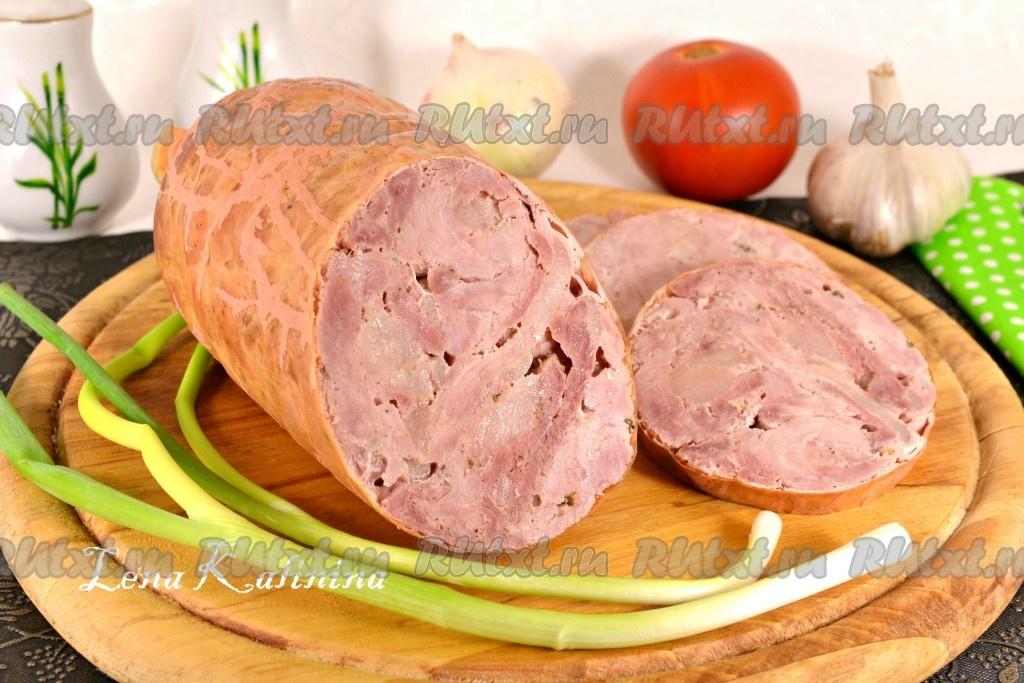 как приготовить в домашних условиях колбасу