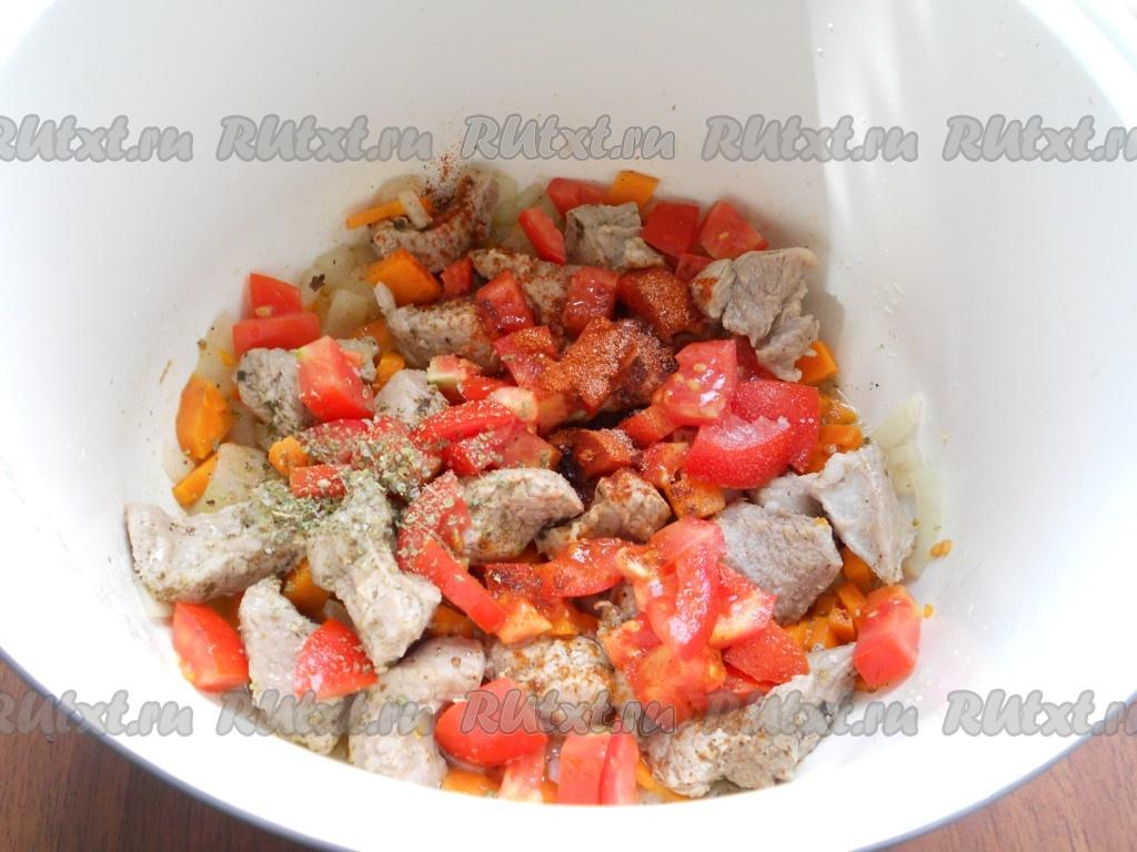 баклажаны помидоры в мультиварке рецепт с фото