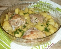 Кабачки курица картошка в духовке рецепт пошагово в