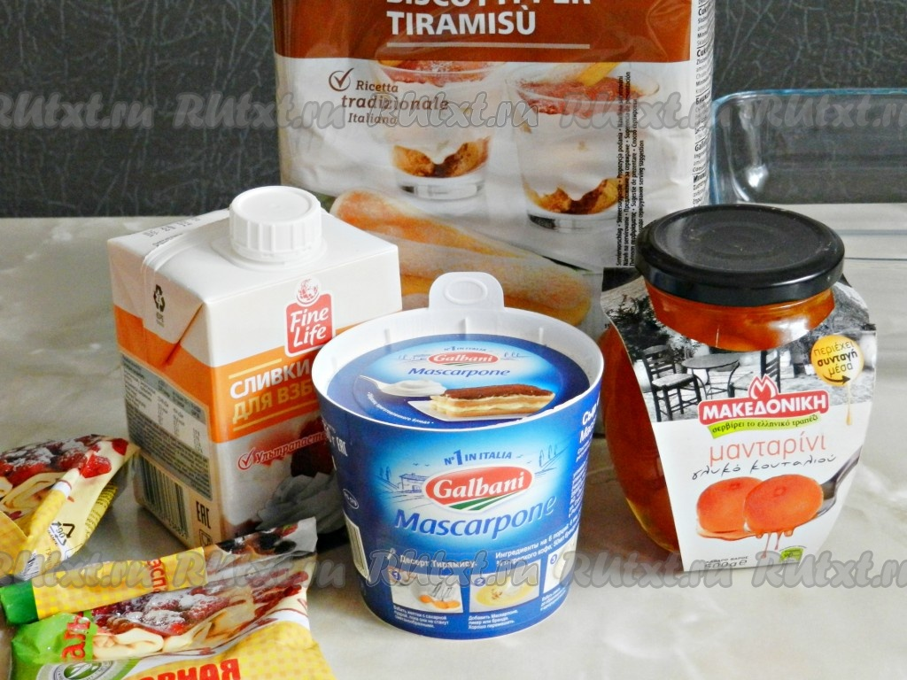 Рецепт торт тирамису с маскарпоне в домашних условиях с фото
