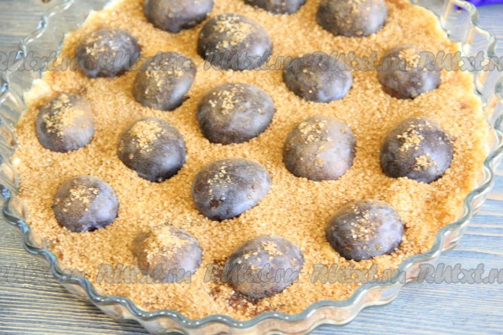 Сливовый пирог на песочном тесте рецепт