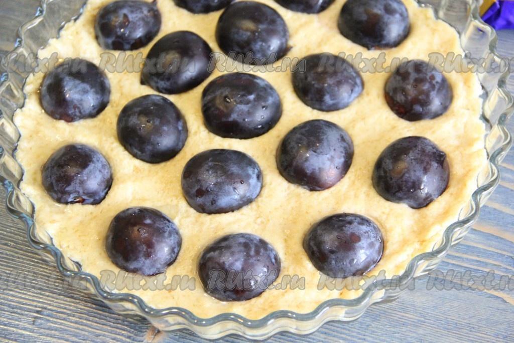 Песочный пирог из сливы рецепт с фото