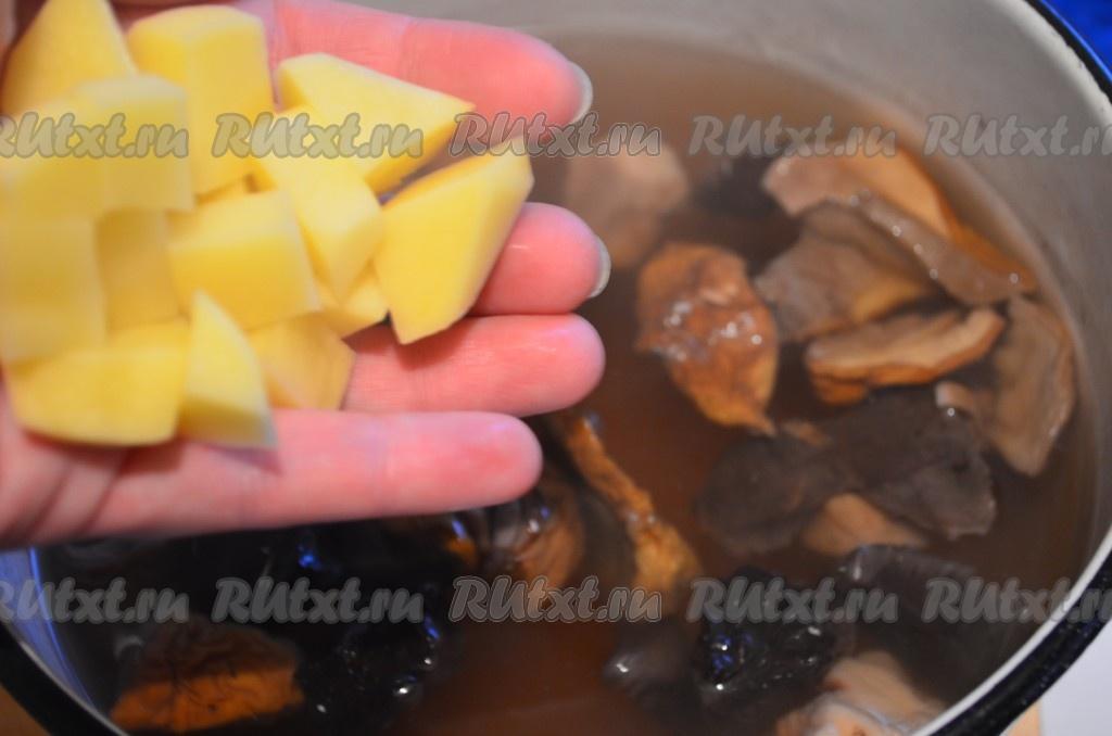 суп из сушеных грибов с гречкой рецепт с фото