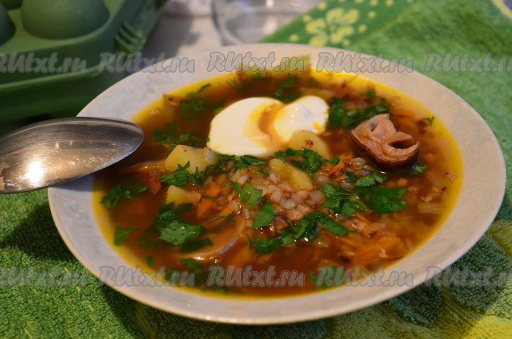 Рецепт приготовления супа с сушеными грибами