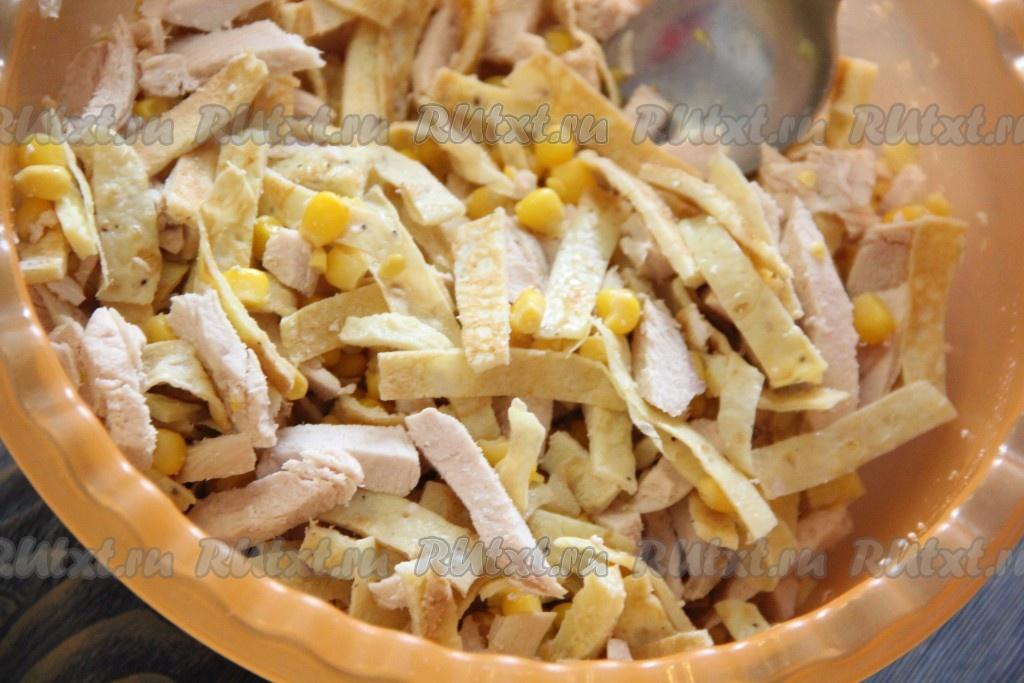 Салаты из кукурузы курицы с фото