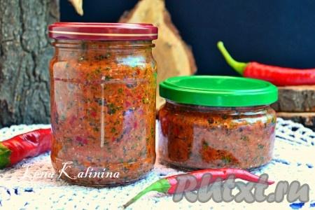 Рецепты абхазской аджики на зиму с фото