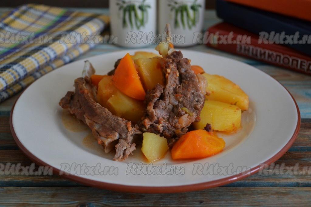 Как приготовить баранину с картошкой в казане
