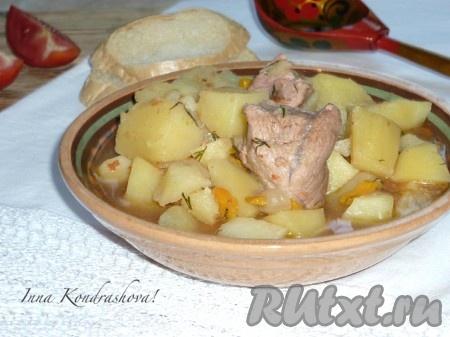 рецепт каши со свининой