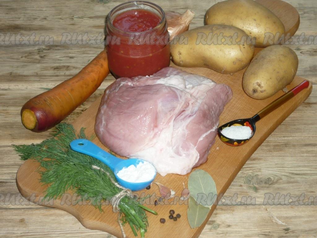 Тушеная картошка рецепт с фото пошагово