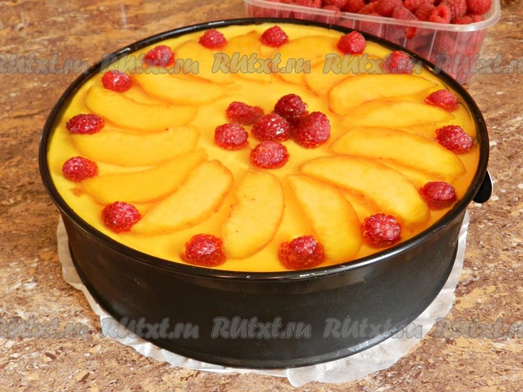 Торт суфле с консервированными персиками рецепт