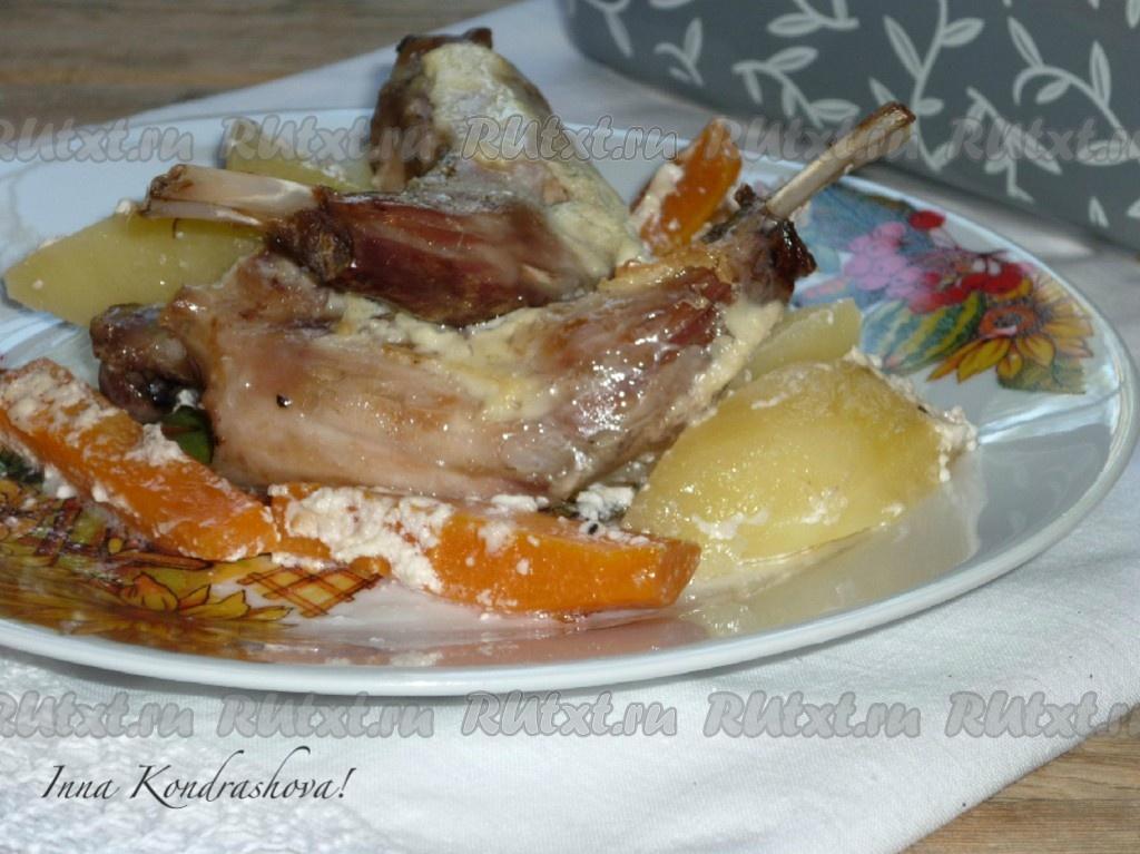 рецепт приготовления мясо и картофеля в духовке фото