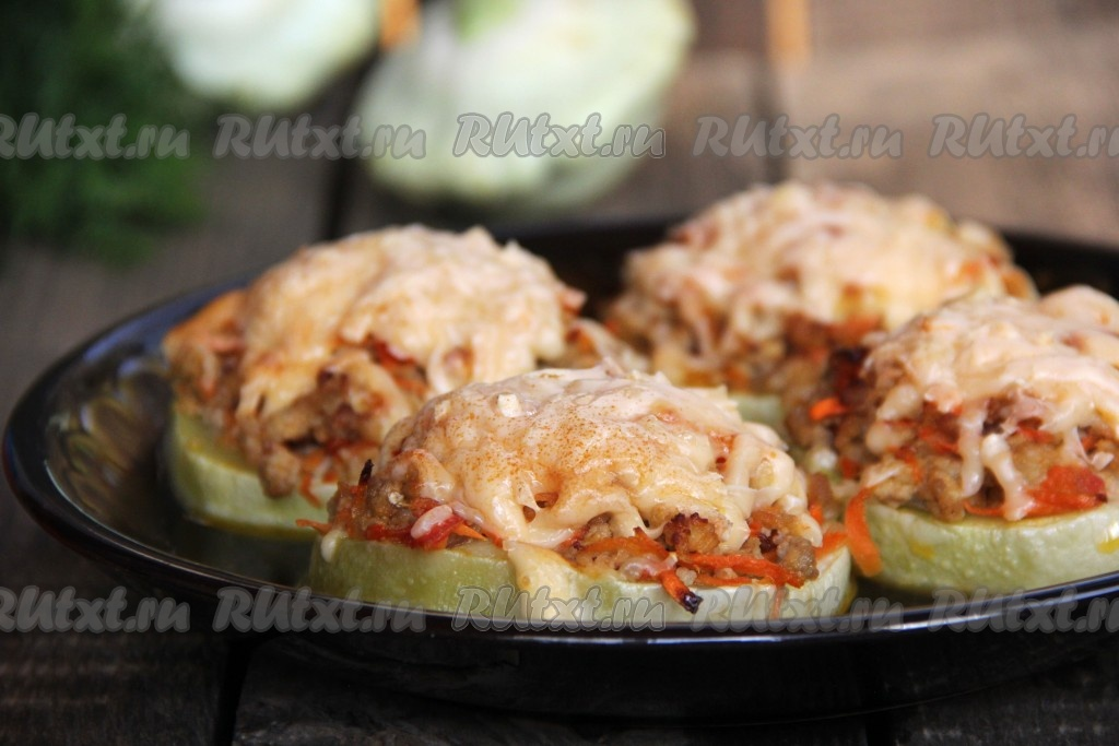 Блюда из кабачков с фаршем в духовке рецепты