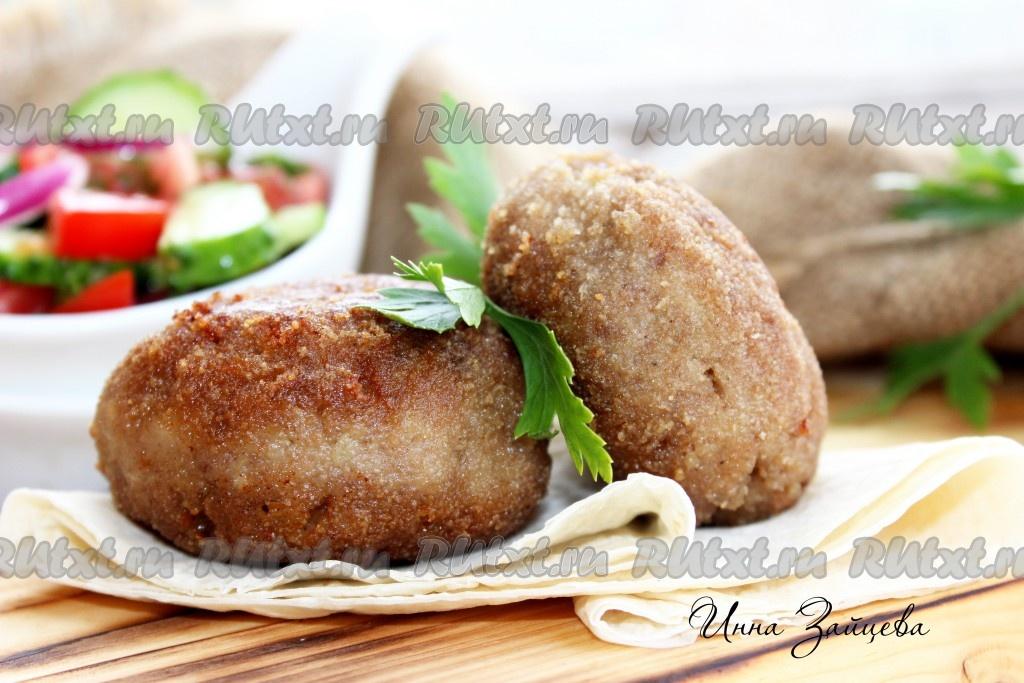рецепты котлет из овощей и фарша в духовке