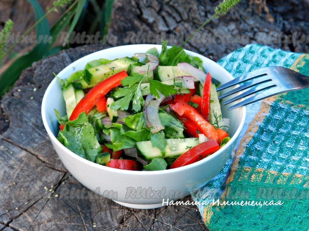 салат на зиму из огурцов капусты перца болгарского и