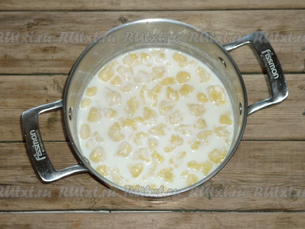 Клецки на молоке рецепт