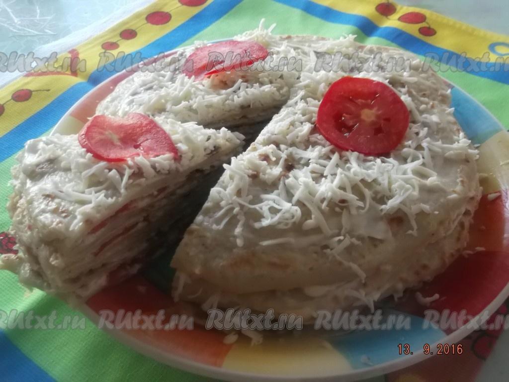 Кабачковый торт с помидорами рецепт пошагово с в
