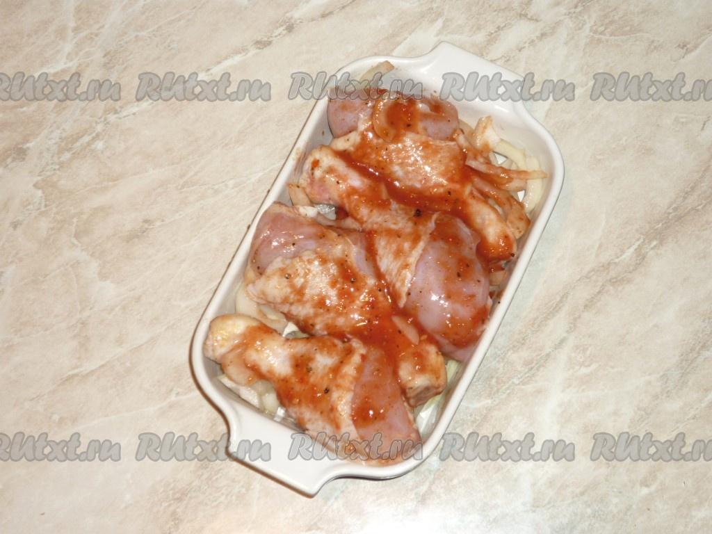 Курица кусочками в майонезе в духовке с фото