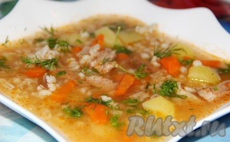 Куриный суп с перловкой рецепт с фото