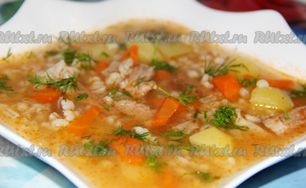 рецепт супа из фасоли в перловки