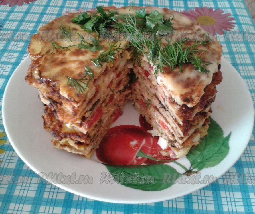 фото рецепт тортика из кабачков